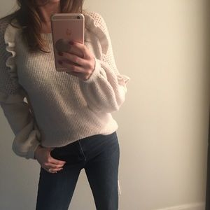 Ruffle Sleeve Sweater from Express Small